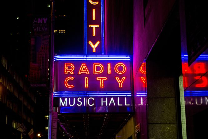 Radio city sign