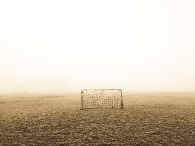 Lone soccer goal
